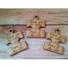 Laser Cut Mini Jigsaw Thank you for Being 50mm tall